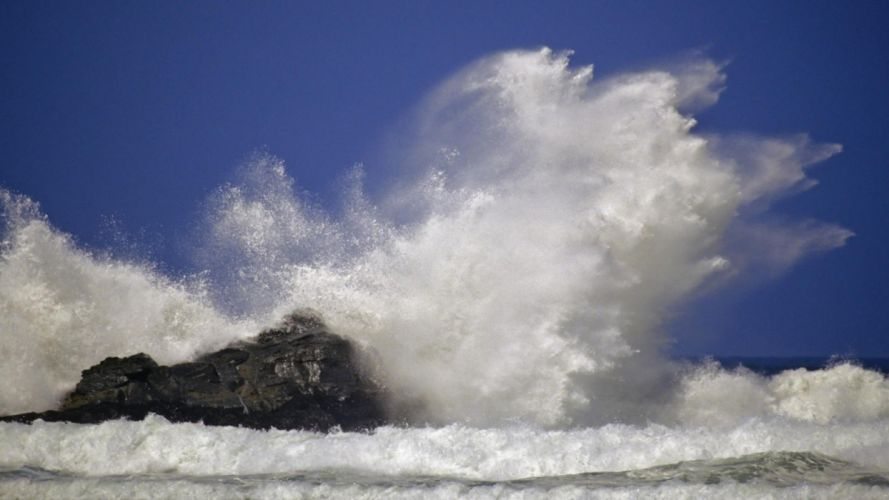 ocean waves Oregon capes sea wallpaper