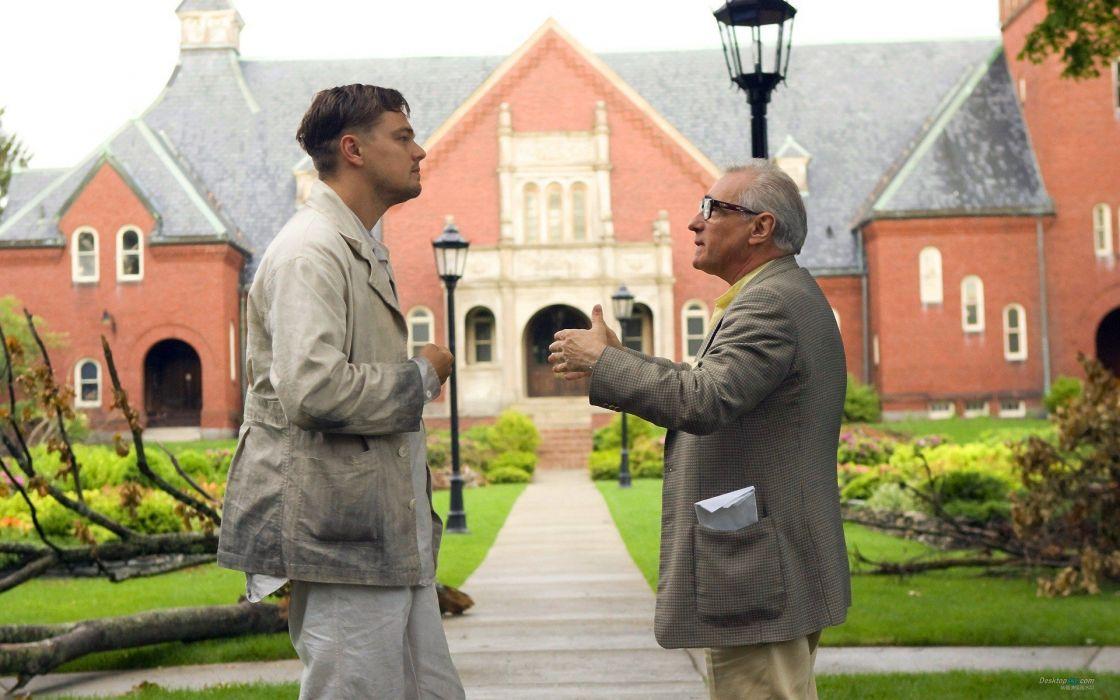 movies men actors Leonardo DiCaprio Martin Scorsese Shutter Island directors wallpaper