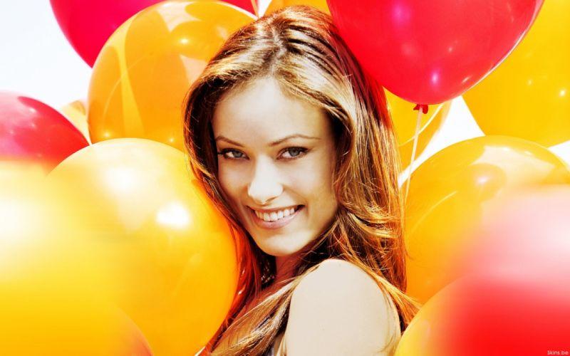women actress models Olivia Wilde celebrity balloons wallpaper