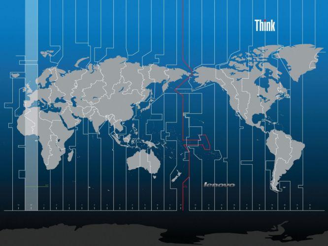 Asia time zones thinkpad Lenovo wallpaper