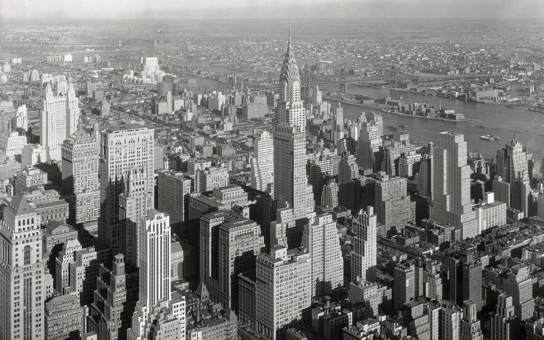 cityscapes buildings New York City Chrysler Building wallpaper