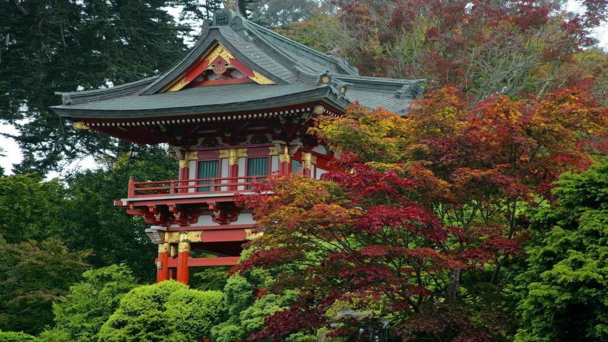 Tea garden Japanese California San Francisco gate temples wallpaper ...