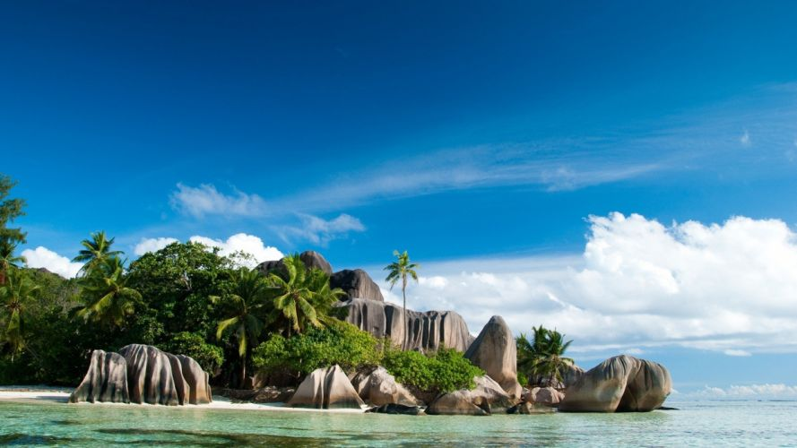 nature islands Seychelles wallpaper