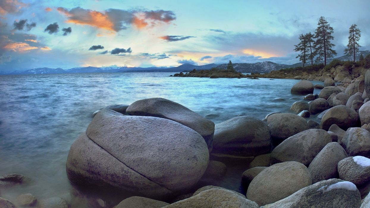 landscapes Nevada Lake Tahoe beaches wallpaper