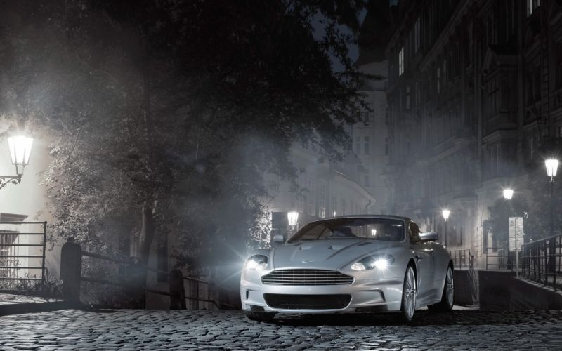 cityscapes streets night cars Aston Martin vehicles Aston Martin DBS wallpaper