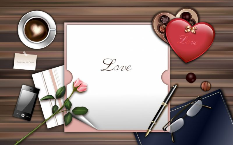 love white gifts Valentines Day hearts wallpaper