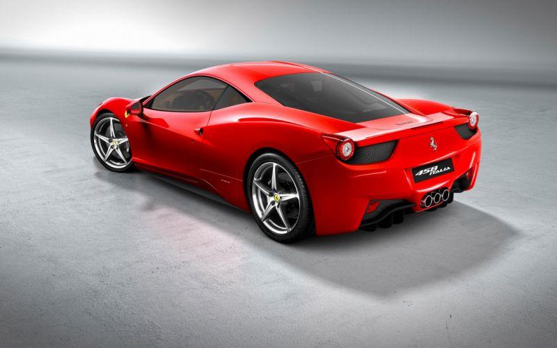 cars Ferrari vehicles Ferrari 458 Italia rear angle view wallpaper