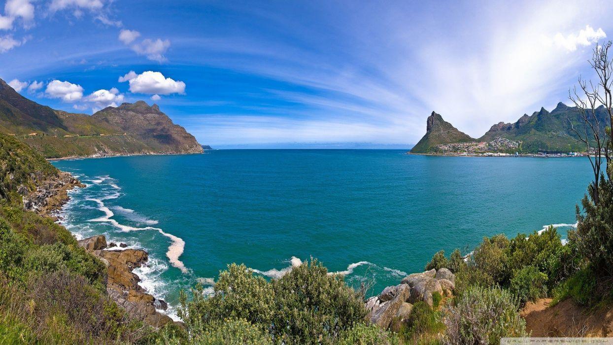 blue ocean nature paradise wallpaper