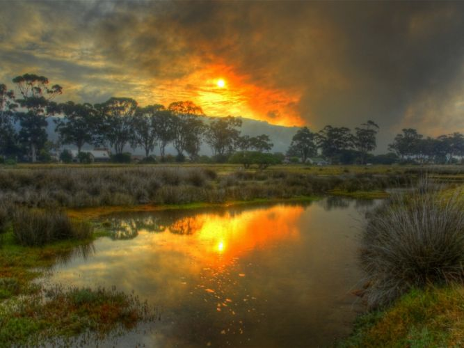 landscapes HDR photography swamp skyscapes wallpaper