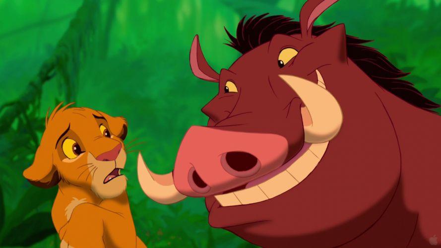 cartoons Disney Company simba The Lion King Pumba wallpaper