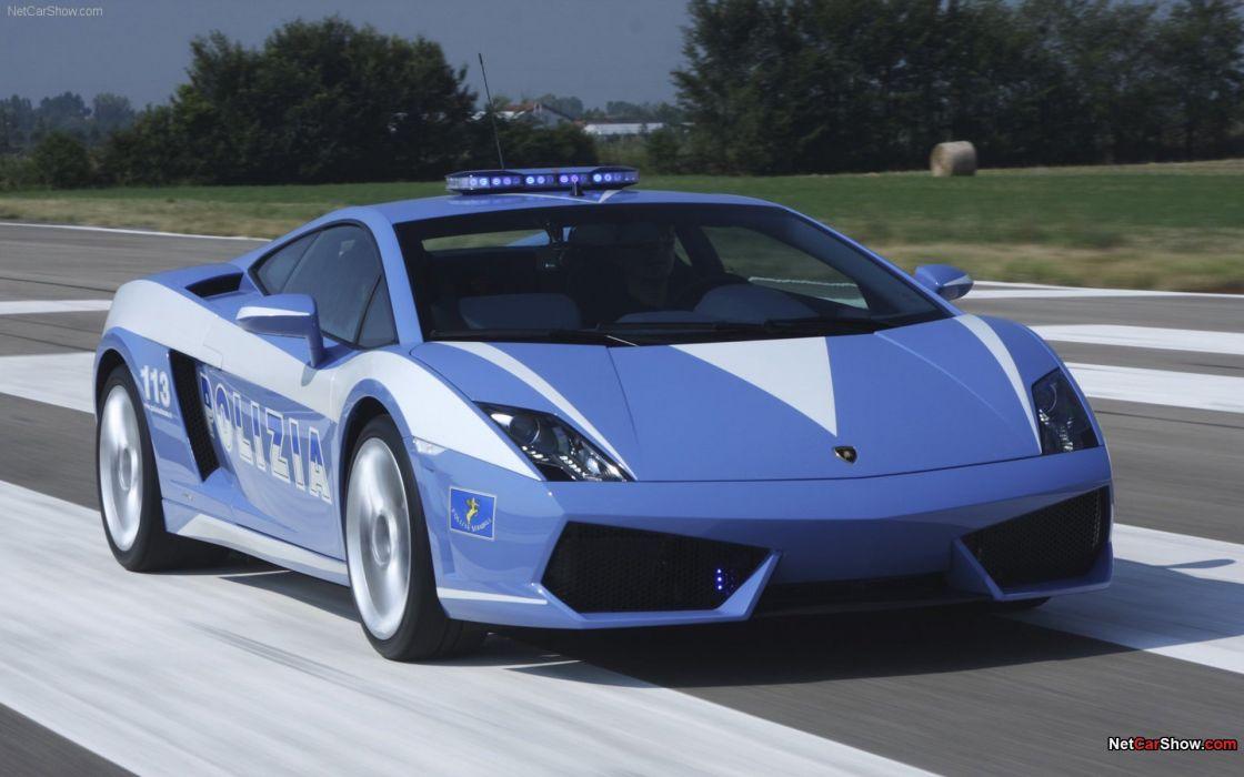 cars Lamborghini police cars wallpaper