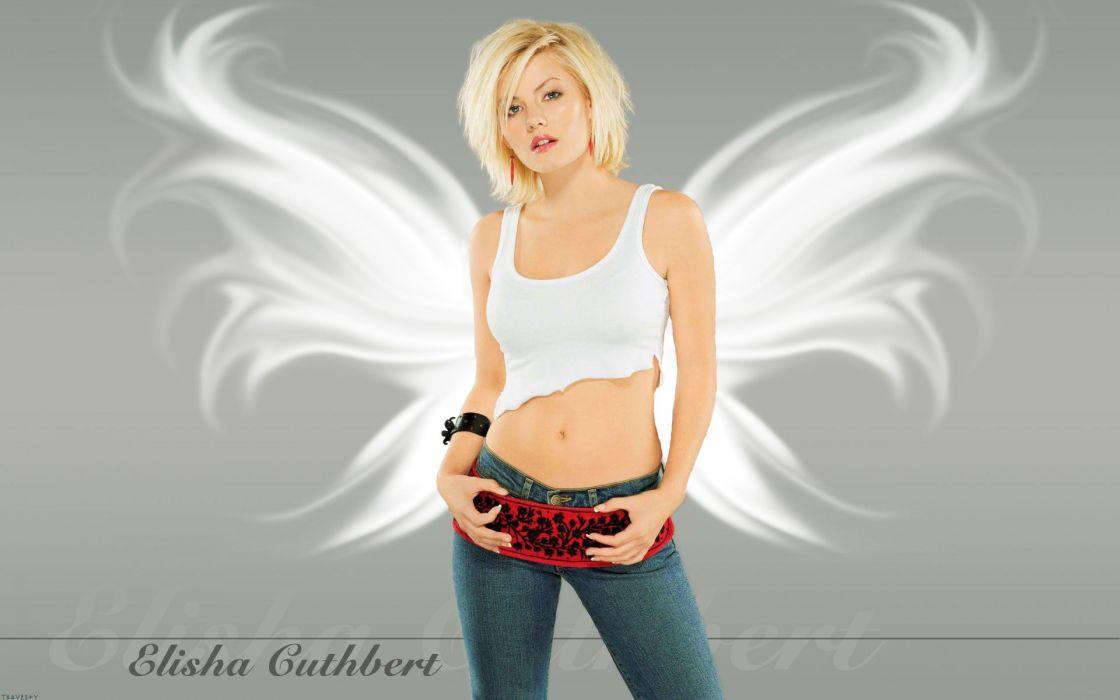 women jeans Elisha Cuthbert actress wallpaper