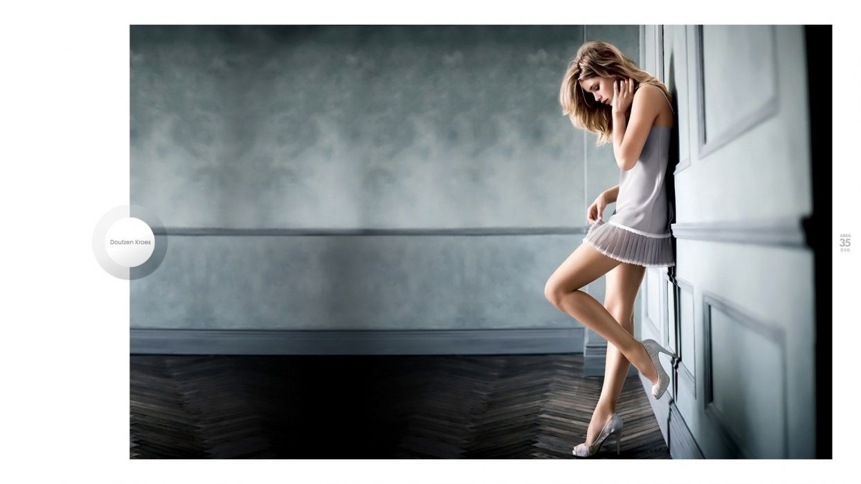 blondes women models Doutzen Kroes faces wallpaper