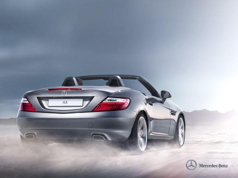 cars convertible Mercedes-Benz Mercedes-Benz SLK-Class wallpaper