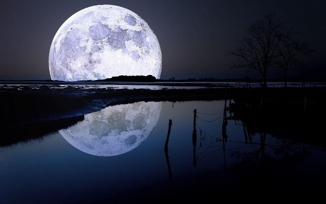 Moon rivers wallpaper