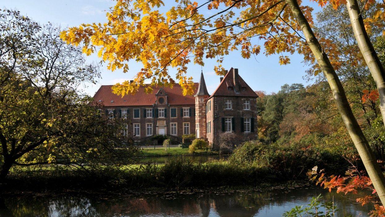 landscapes castles Germany architecture buildings castle wallpaper