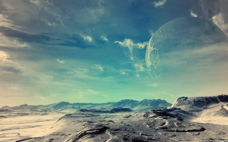 outer space stars planets Moon wallpaper
