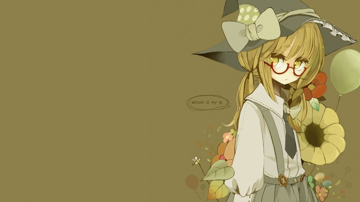Touhou Kirisame Marisa simple background wallpaper
