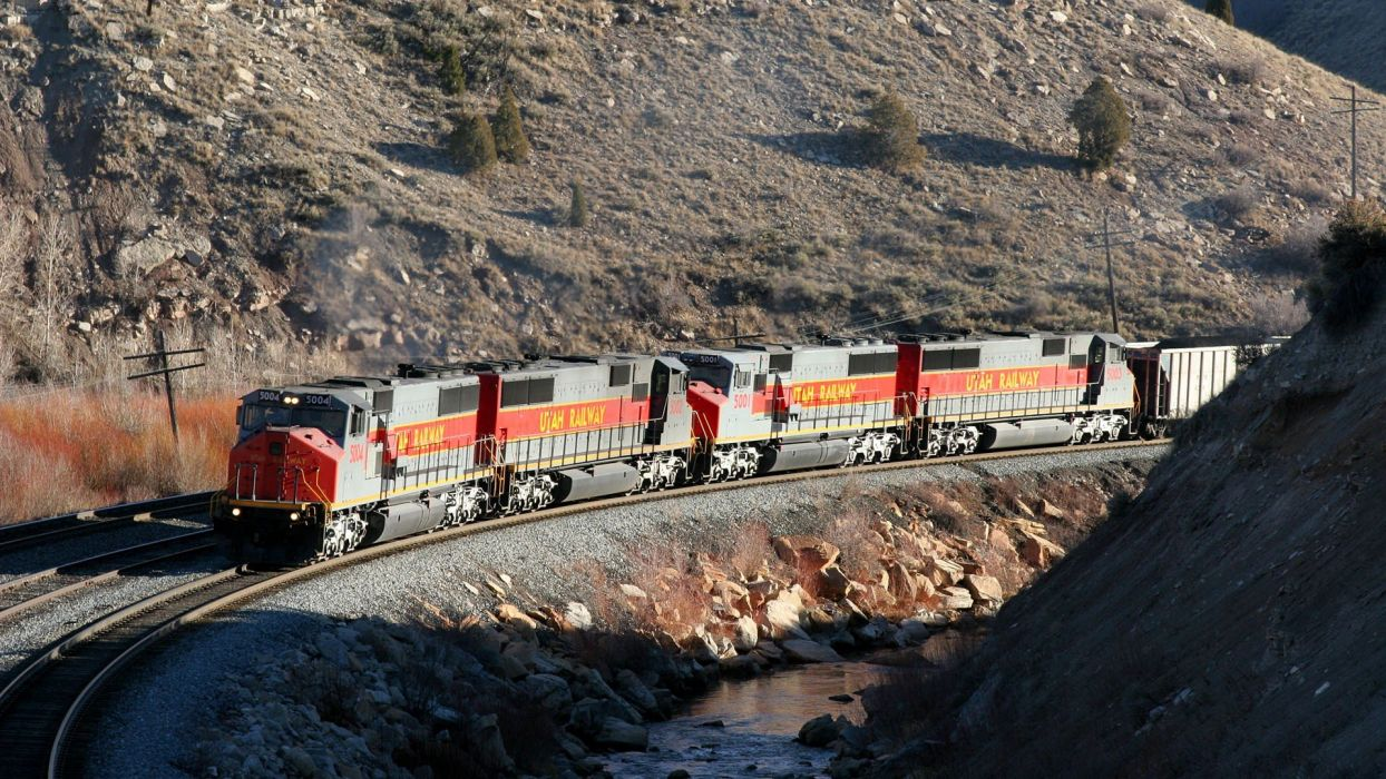 trains Utah Maxwell locomotives widescreen wallpaper