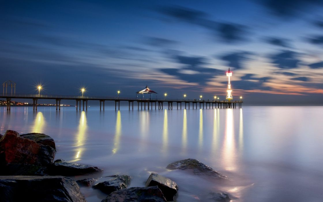 water nature night lighthouses nightlights wallpaper