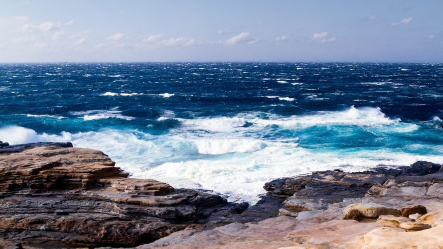 nature waves oceanscape wallpaper