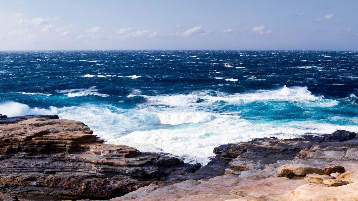 nature waves oceanscape wallpaper
