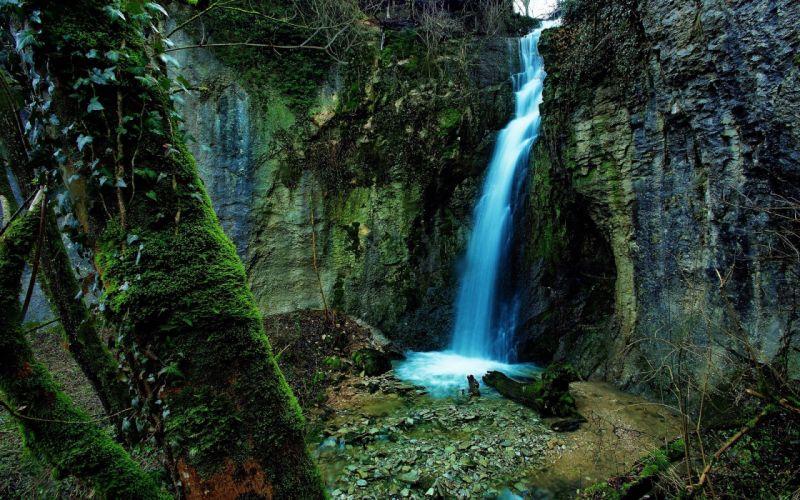 moss waterfalls wallpaper