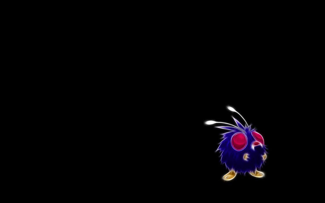 Pokemon Venonat black background wallpaper