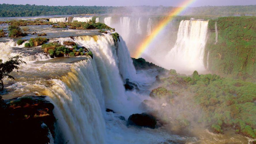 Argentina devil falls waterfalls wallpaper