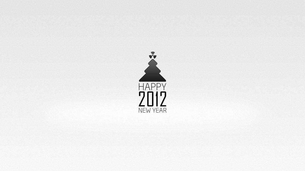 minimalistic New Year wallpaper