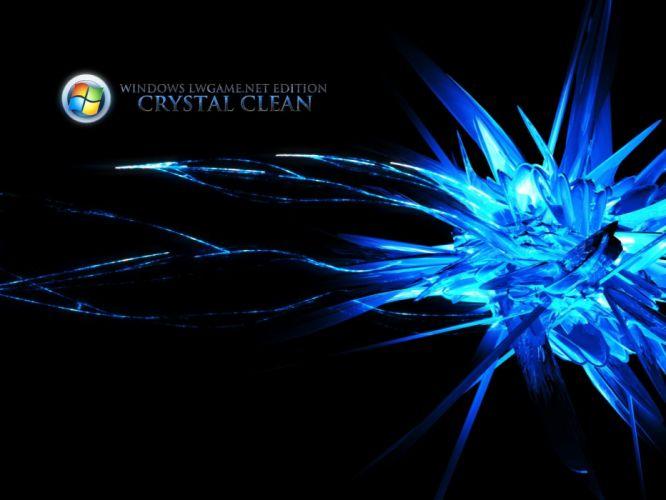 crystals artwork Microsoft Windows wallpaper