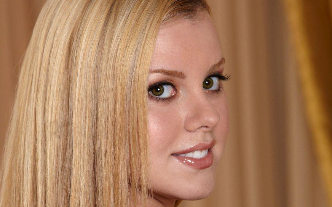 blondes women close-up eyes pornstars green eyes faces Jessie Rogers wallpaper