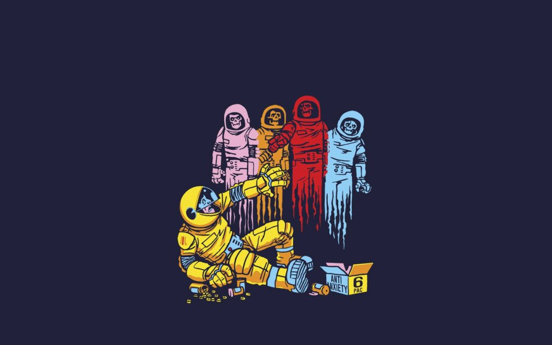 funny ghosts alternative art Pac-Man wallpaper