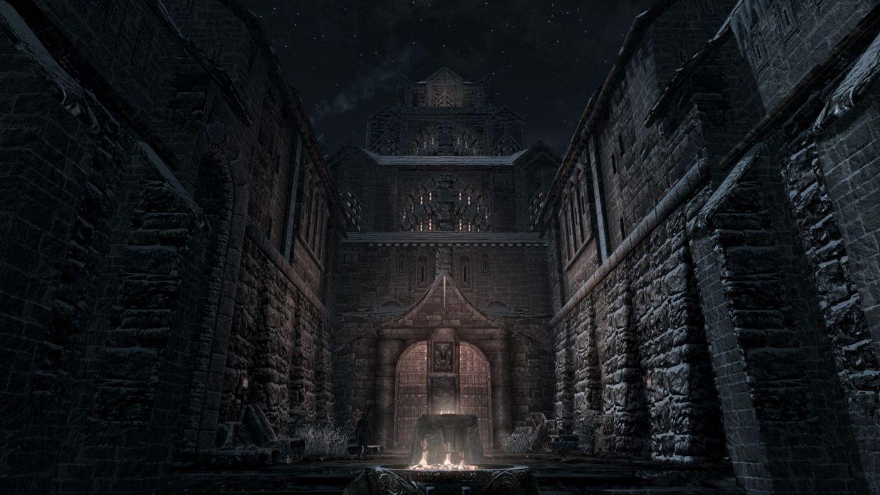 winter night The Elder Scrolls V: Skyrim Windhelm wallpaper