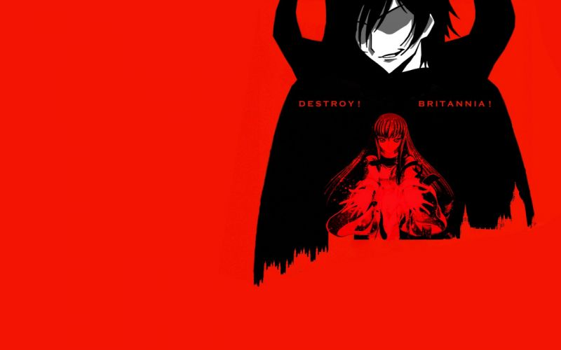 Code Geass Lamperouge Lelouch C_C_ simple background wallpaper