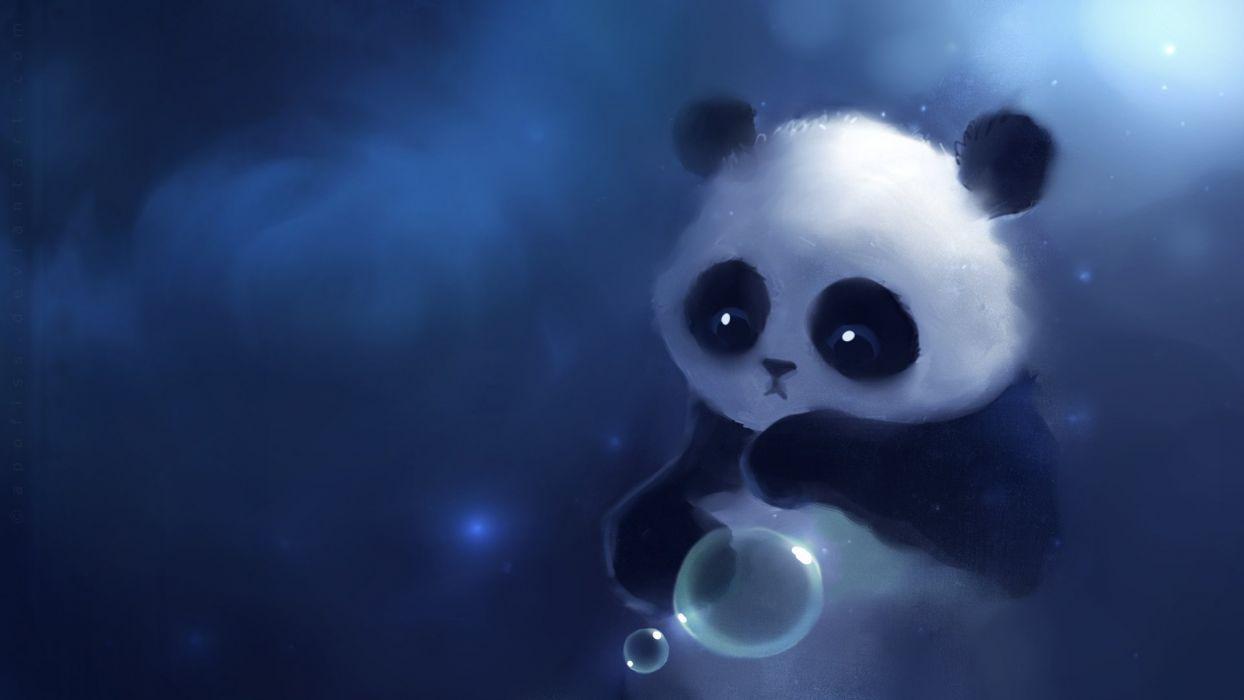 panda bears artwork Apofiss wallpaper