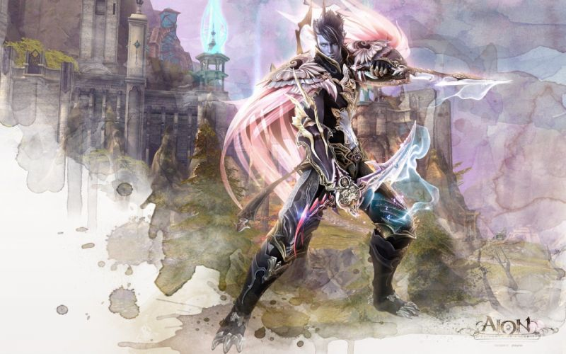 video games Aion artwork MMORPG wallpaper