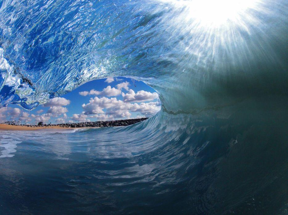 blue ocean waves tropical clark little beaches wallpaper