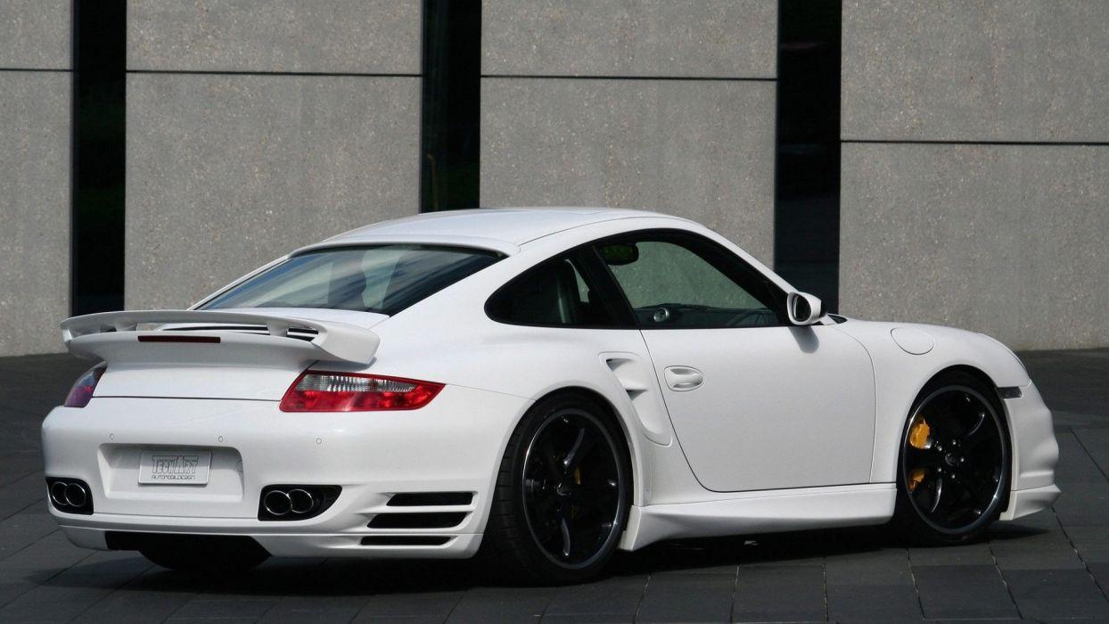 white Porsche cars vehicles TechArt wallpaper