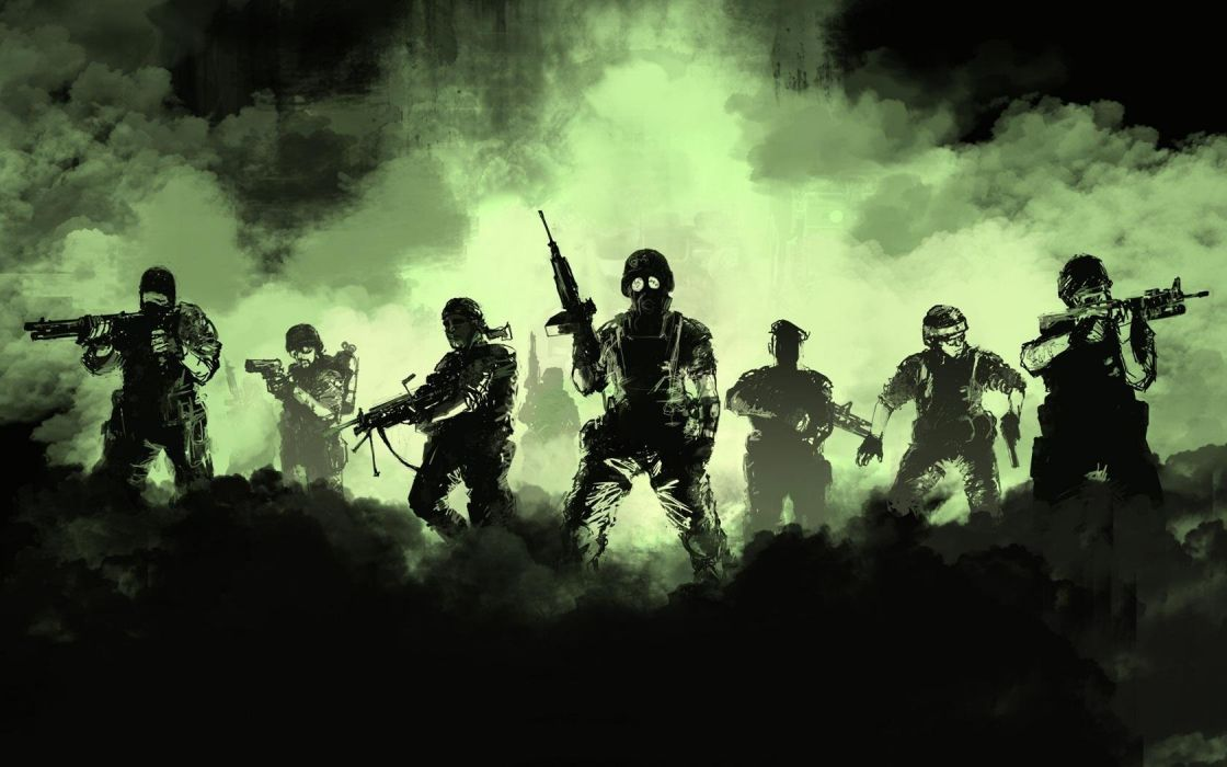 soldiers video games Half-Life artwork wallpaper