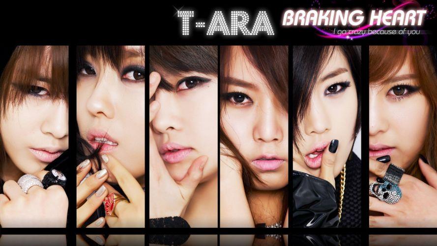 music lips Asians Korean Korea Asia K-Pop T-ara Eunjung Qri Boram Soyeon Hyomin Jiyeon Hwayoung wallpaper