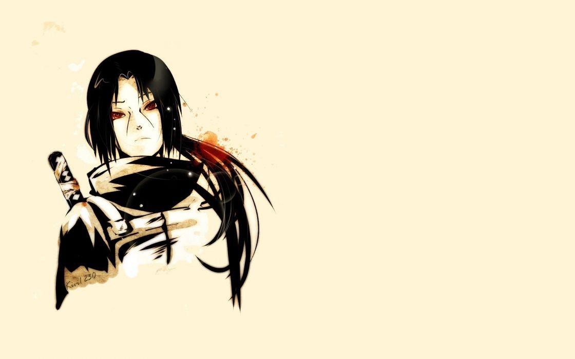 Naruto: Shippuden Uchiha Itachi Sharingan simple background ANBU wallpaper
