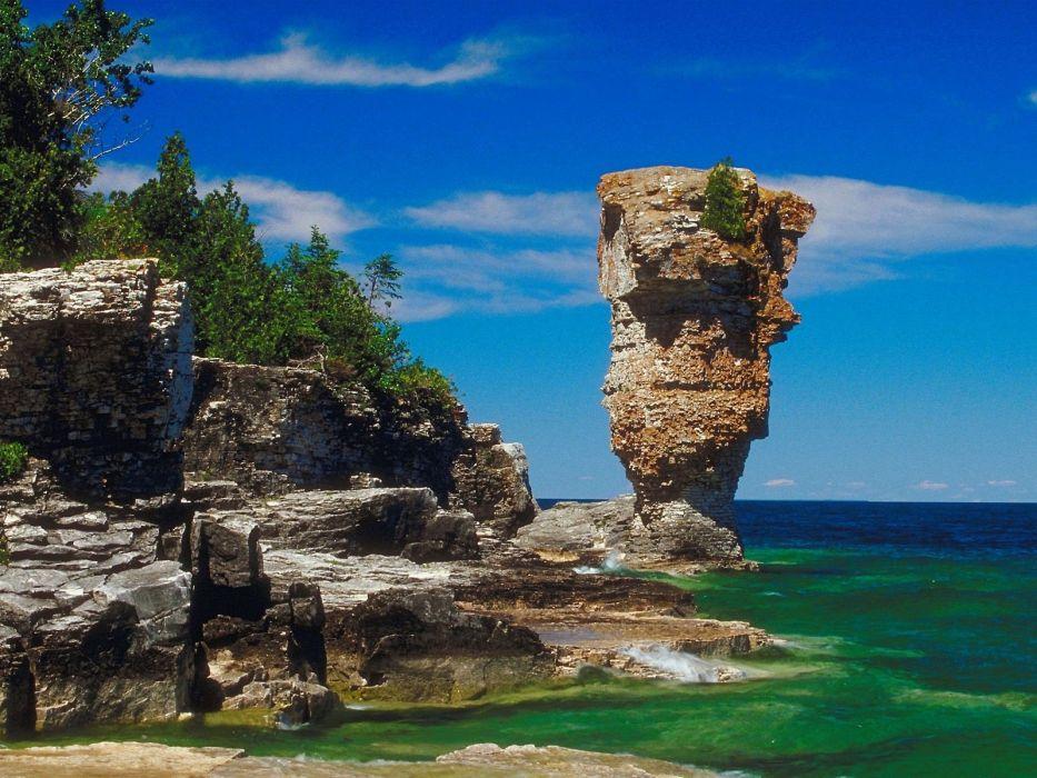 landscapes rocks Canada wallpaper