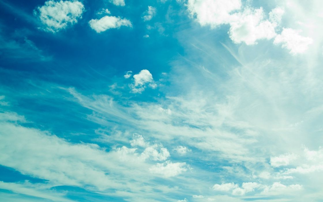 blue clouds skyscapes wallpaper