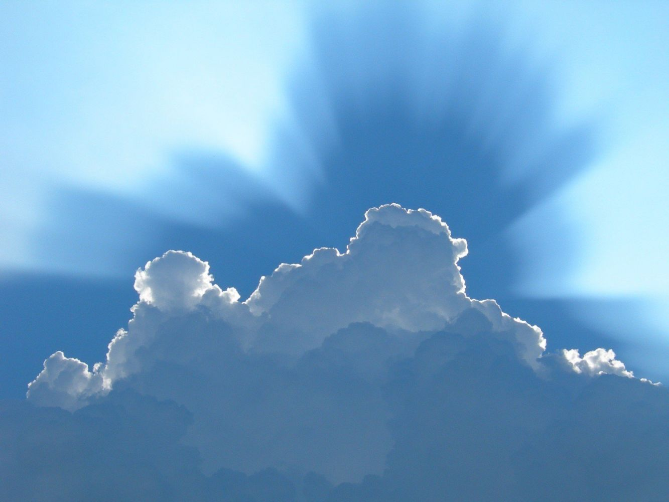 Днем, открытка облако