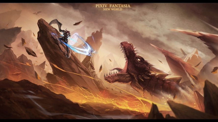 dragons fantasy art digital art artwork wallpaper