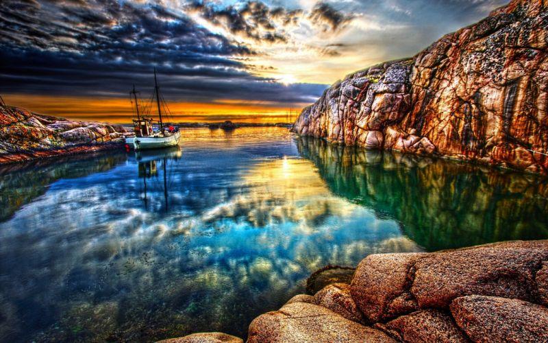 landscapes HDR photography wallpaper