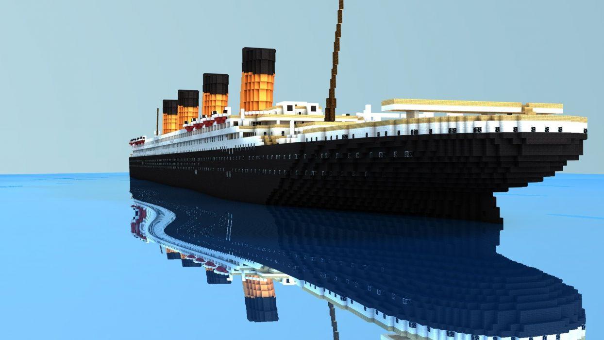 ocean old Titanic Minecraft realistic vehicles Cinema4D cinema 4d Ingve SoWhat! wallpaper