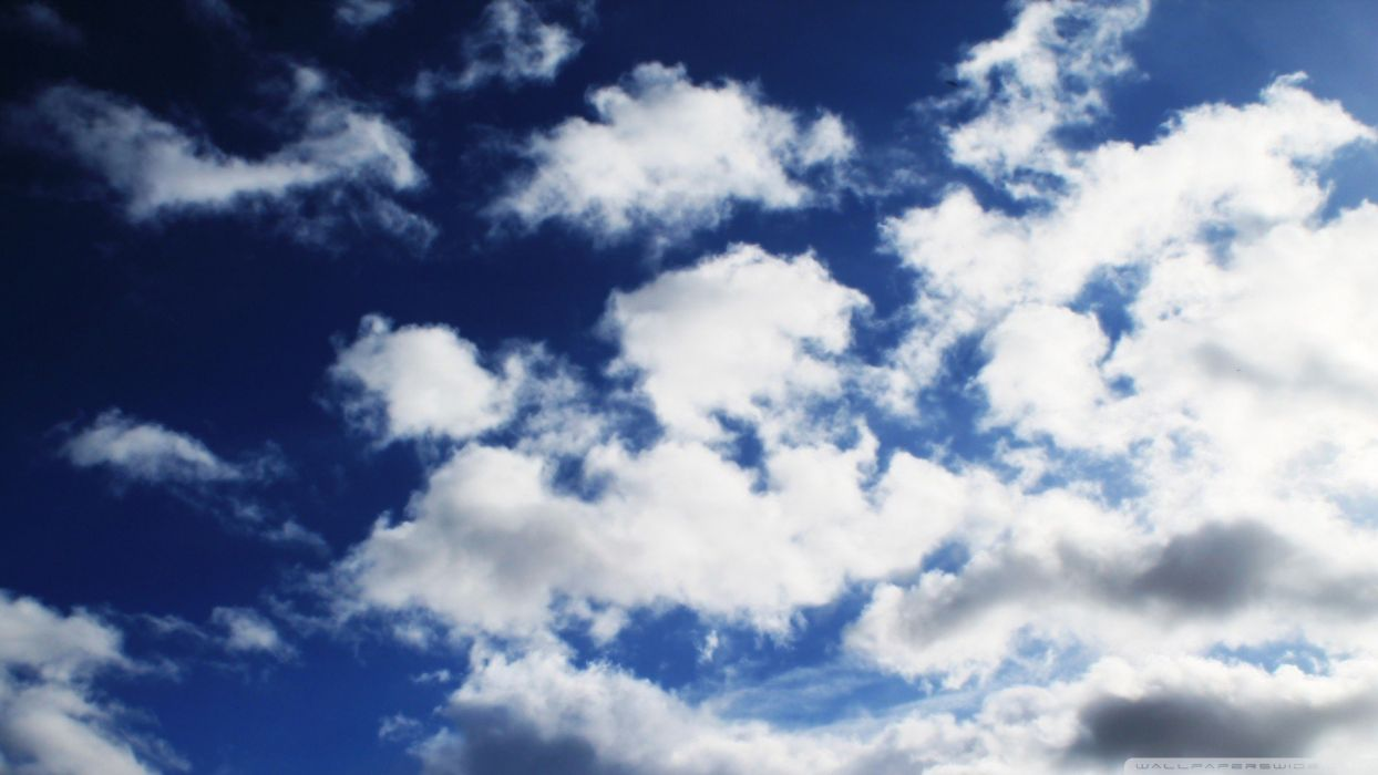 blue clouds The sky wallpaper