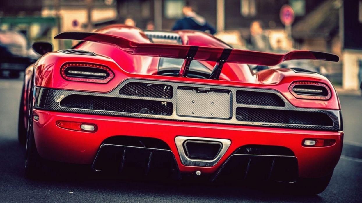 Back Cars Koenigsegg Agera R Red Wallpaper